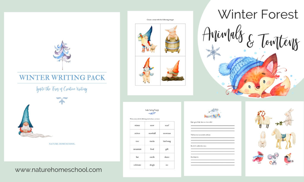 Winter homeschooling printables