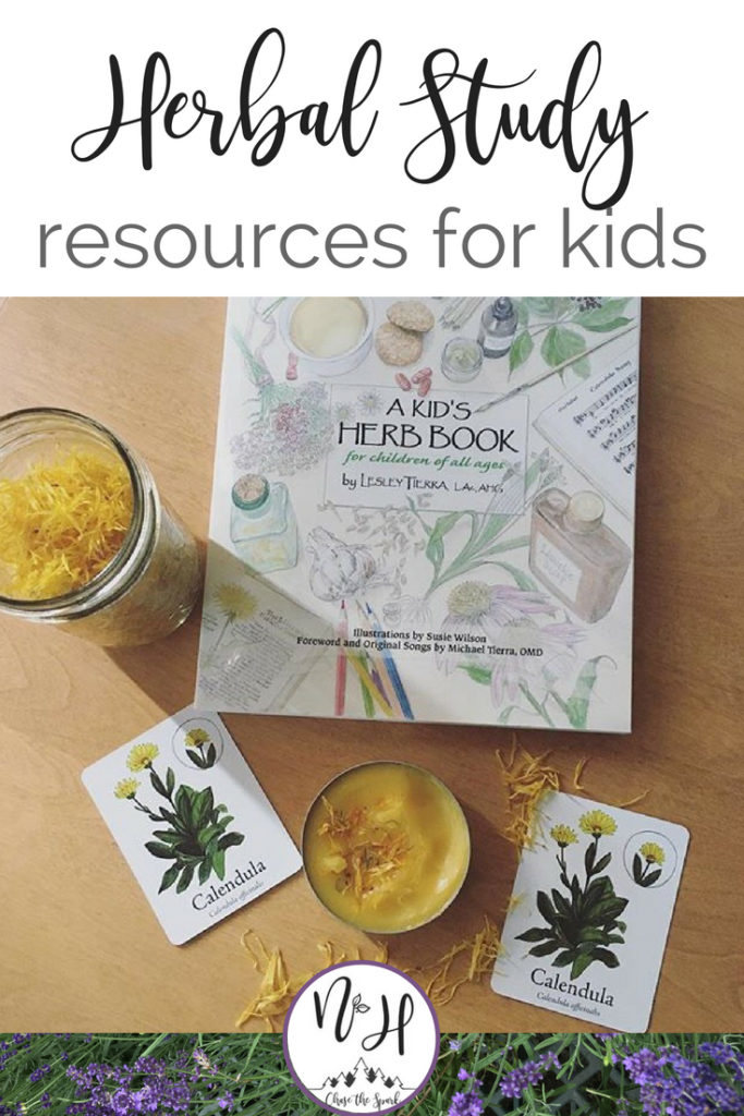 Learning herbs for kids- books and board games