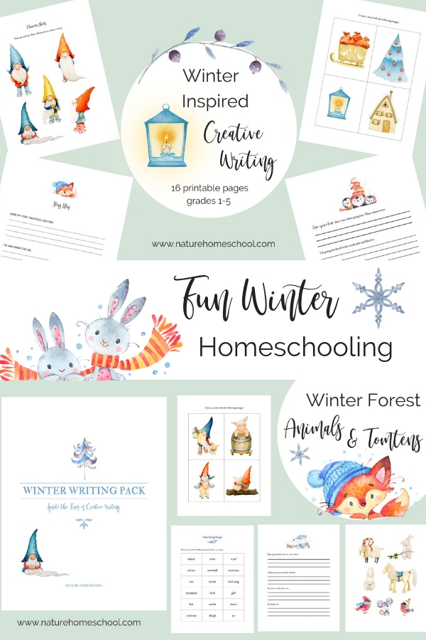 Winter homeschooling printables #homeschool #homeschooling #winterhomeschool #educationalworksheets #educational #winter #hygge #hyggehomeschool #kidsprintables #creativewritingkids