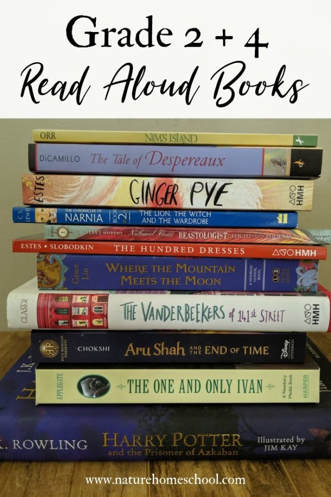 Grade 2 and grade 4 literature for read alouds