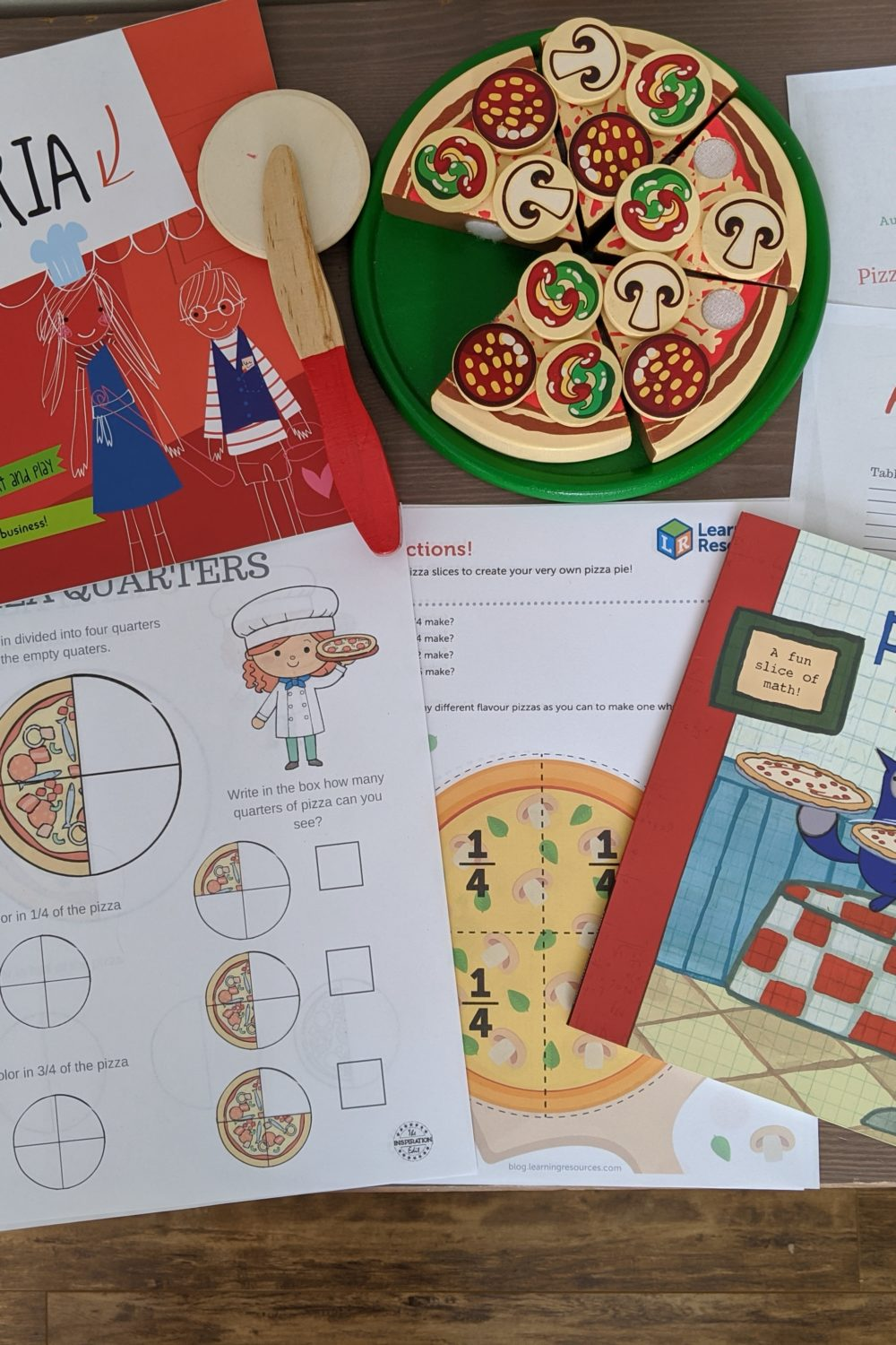 Pizza fractions and pizza games