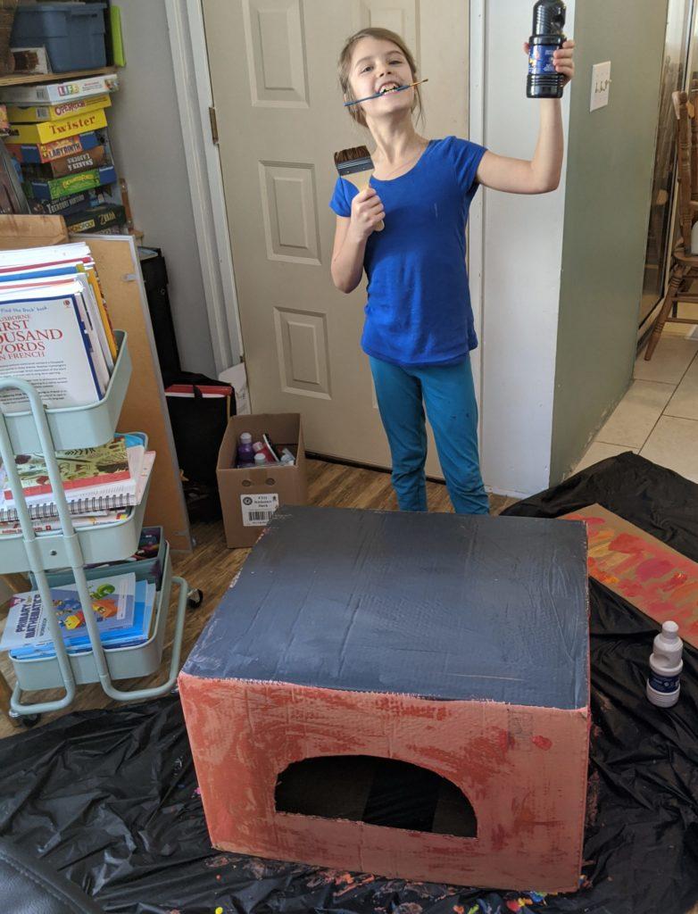 Cardboard box pizza oven