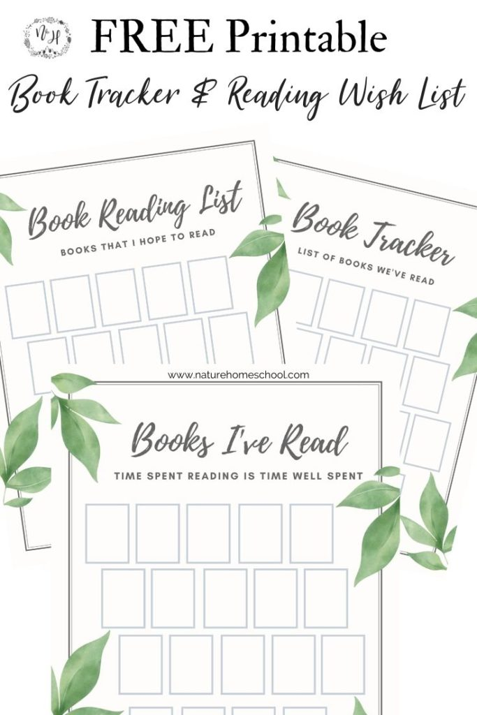 Printable book tracker