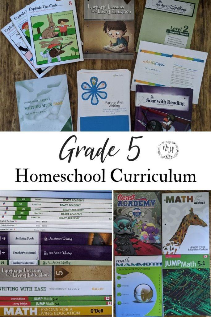 Grade 5 Homeschool Curriculum