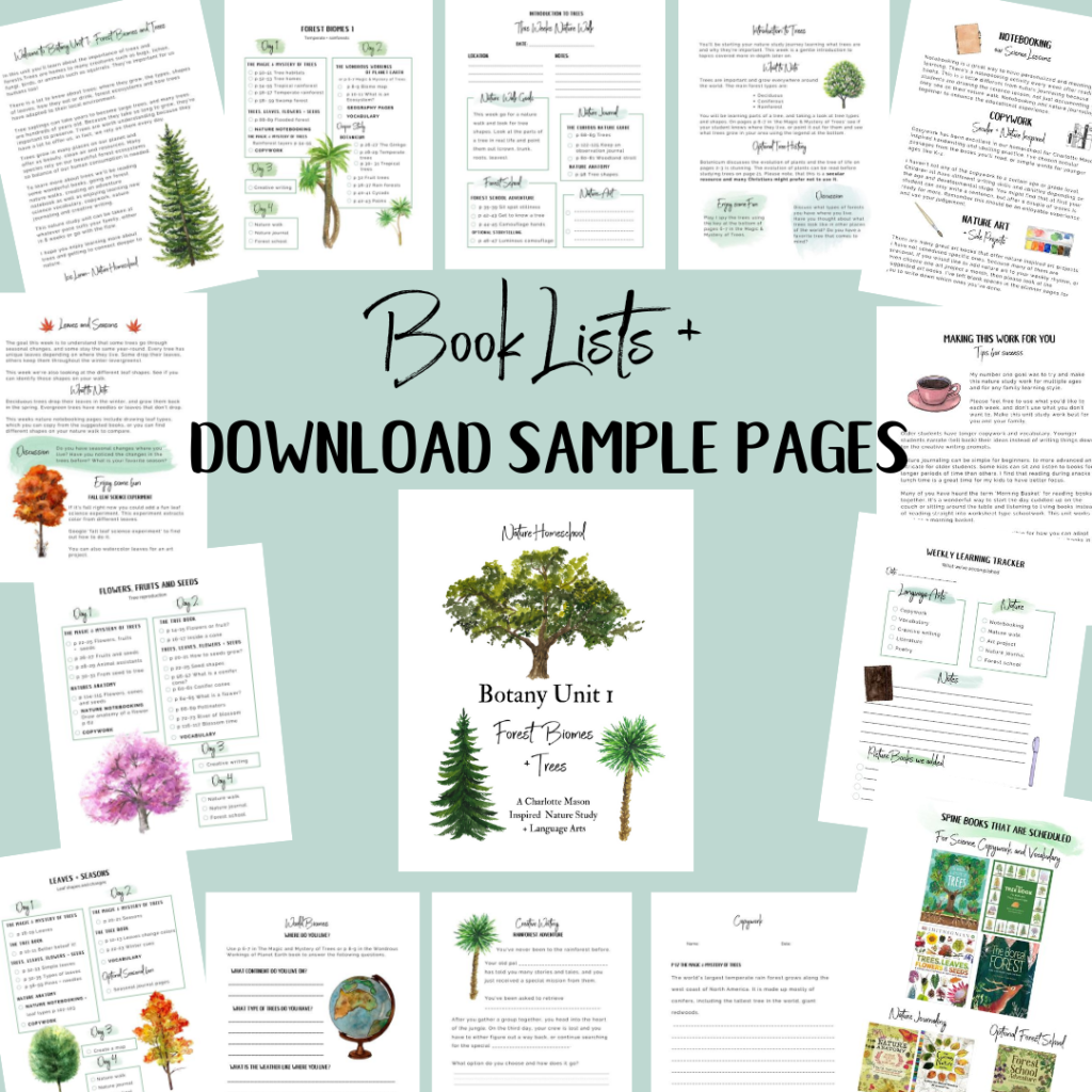 Forest Biome Tree Unit Study for Kids